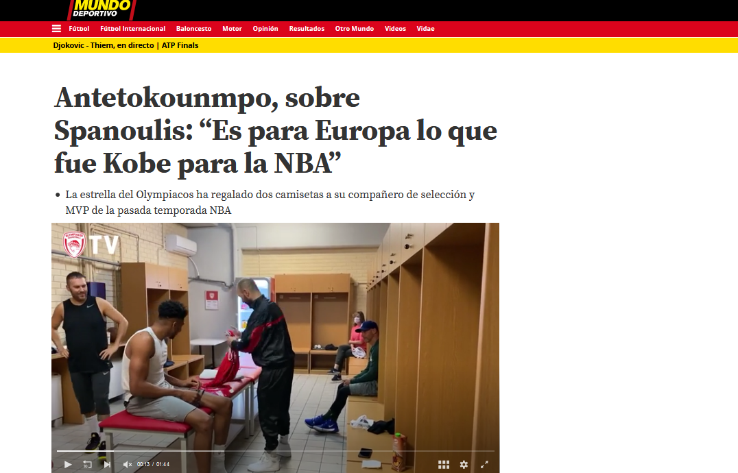 Screenshot 2020 11 21 VÍDEO Antetokounmpo sobre Spanoulis Es para Europa lo que fue Kobe para la NBA